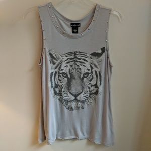 [Wet Seal] Studded Tiger Muscle Tank